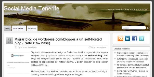 Nuevo Blog socialmediatfe ( Social Media Tenerife)